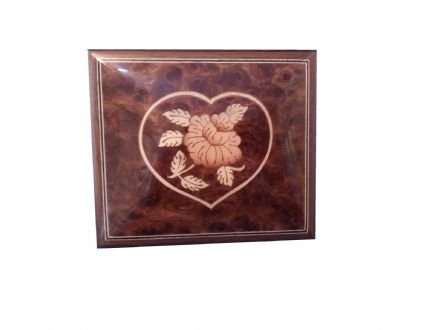 Musical Trinket Box B10/C Elm Heart